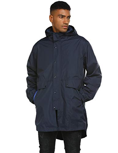 Long Jackets Men Blue