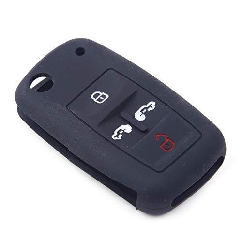 CITALL Coque noire avec télécommande en silicone à 4 boutons