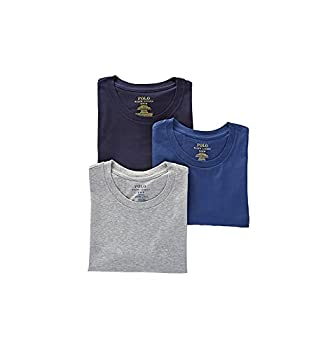 Polo Ralph Lauren Classic Fit w/Wicking 3-Pack Crews Andover Heather/Bali Blue/Cruise Navy SM