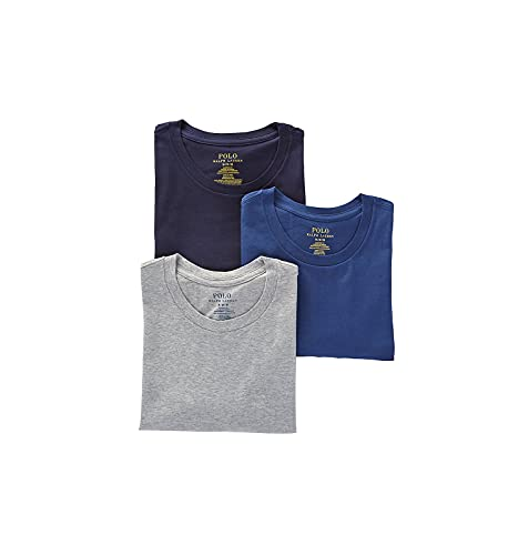Polo Ralph Lauren Classic Fit w/Wicking 3-Pack Crews Andover Heather/Bali Blue/Cruise Navy MD