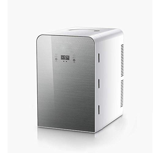 Mini Fridge with Cooler And Warmer, Small Skin Care Refrigerator 13 Liter Large Capacity Portable Compact Fridge, LED Temperature Control Panel,Quiet Freezer for Car Home Office Dorm