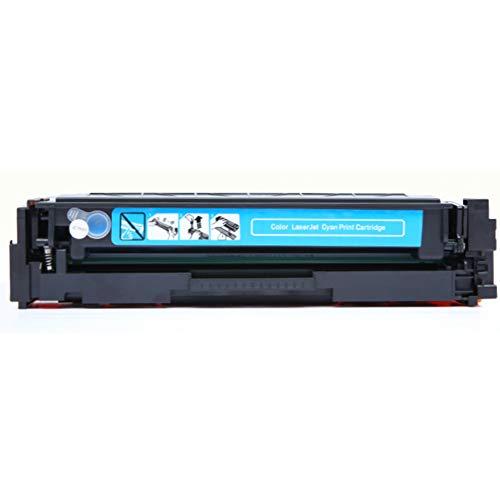 HP - Cartucho de tóner para impresora láser color negro amarillo magenta HD para HP Pro M154a M154nw MFP M180n MFP M181fw color Business Edition listo para usar con chips, color azul size