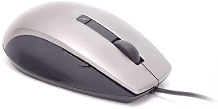 Genuine Dell K251D 6-Button Grey Gray Silver Black USB Scroll Wheel Optical Laser Mouse, Works Perfectly With Windows 95, ...