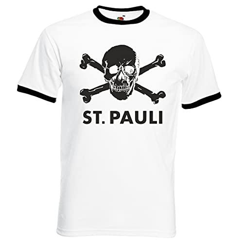 FC St. Pauli Ultras,Hooligans Retro Football Tshirt.Germany Bundesliga.Left Wing GRANDE IMPRESIÓN