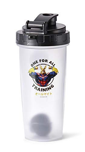JUST FUNKY My Hero Academia All Might Training Gym Shaker Bottle   Perfect for Protein Shakes, Pre & Post-Workout Blends, & More   Includes Mixing Ball