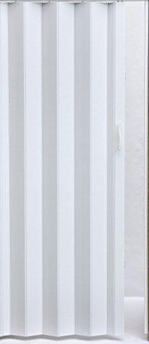 Falttür Schiebetür Tür Kunststofftür rein weiss farben Höhe 203 cm Einbaubreite bis 109 cm Doppelwandprofil Neu