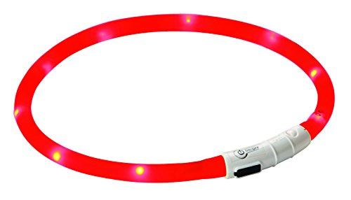 Kerbl 81191 Maxi Safe Led-Halsband, rot, Länge 55 cm