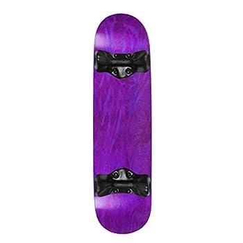 Softrucks Skateboard Indoor Practice Complete 7.75  Black Trucks Stained Purple
