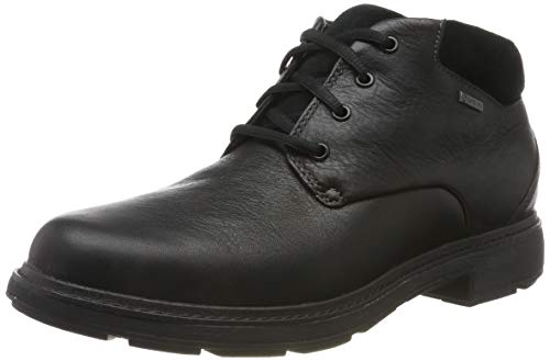 Clarks Un Tread UpGTX, Botas clásicas. Hombre, Negro (Black Leather Black Leather), 42.5 EU