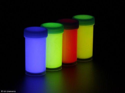 Unsichtbare Leuchtfarbe Set 2 4x50ml (blau, grün, rot, gelb)