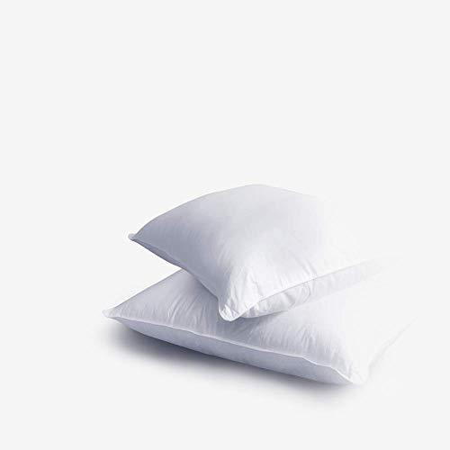 Nezt | Nueva Almohada Hipoalergénica De Algodón de 300 Hilos – Duerme Profundamente en Cualquier Posición – [Standard, Blanca/Suave] El Soporte Ideal para tu Cuello y Cabez