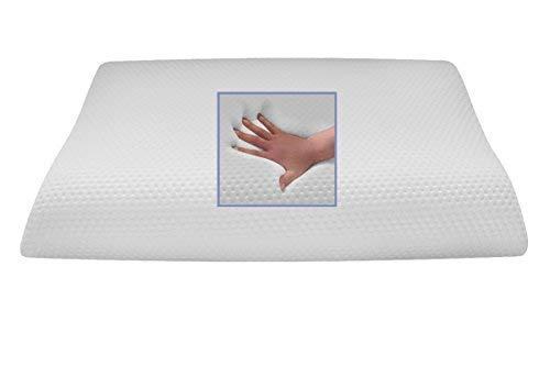 Almohada ortopédica Wave Gel/Almohada de Espuma de Gel/Cojín Cervical/–Almohada Cervical (80x 40cm Almohada Suave/Onda Cojín de Suave