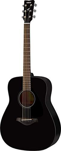 Yamaha FG800 Westerngitarre schwarz - Akustische Westerngitarre mit authentischem Klang - Anfängergitarre für Erwachsene & Jugendliche - 4/4 Gitarre aus Holz