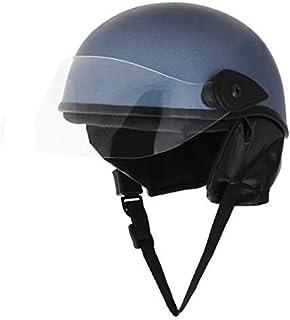 Sage Square Scooty Helmet for Mens & Womens (Metallic Blue Matte)