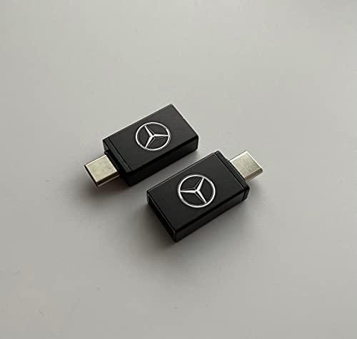 Mercedes Adaptador OTG USB C a USB para coche y smartphone (2 unidades)