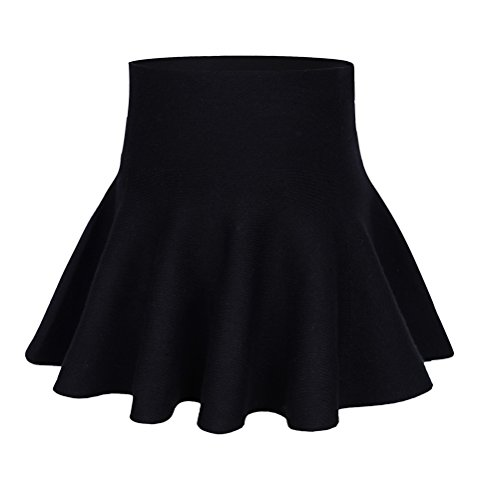 storeofbaby Little Big Girls Casual Pleated Mini Skirt for Spring Autumn 7-8 Years, Black