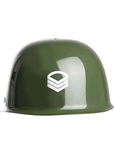 Funidelia   Casco de Soldado para niño y niña ▶ Militar, Soldado, Profesiones, Camuflaje - Color: Verde, Accesorio para Disfraz - Divertidos Disfraces y complementos