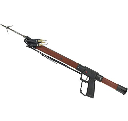 """AB Biller Redesigned Professional Speargun, Stainless or Wood (Made in USA) (Padauk Wood, 32"""")"""