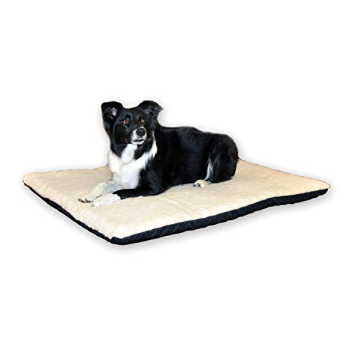 K&H PET PRODUCTS Ortho Thermo-Bed Heated Pet Bed Fleece Fleece Large 27 X 37 Inches 6 Watts