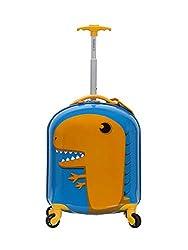 5. Rockland Jr. Kids' My First Hardside Spinner 19″ Dinosaur Luggage