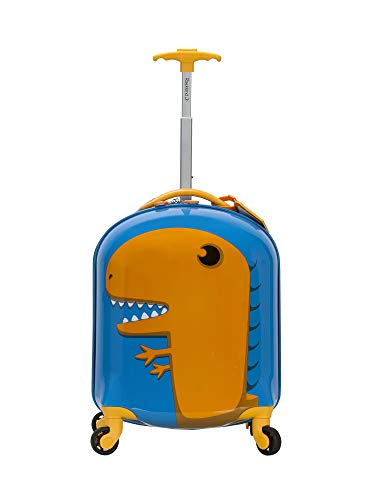 Rockland Jr. Kids' My First Hardside Spinner Luggage, Dinosaur, Carry-On 19-Inch