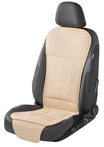 Walser 13978 Autositzauflage Lewis, Universelle Sitzauflage und Schutzunterlage in beige, Sitzschoner für PKW und LKW