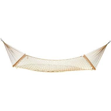 AmazonBasics LF60161 Cotton Rope Hammock, Beige
