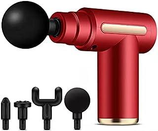 Lipa Kar Mini Massage Gun + 4 Koppen, Snelle Revalidatie, Professioneel Gebruik, 4 Opzet Koppen, Voor en na de Workout, On...