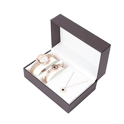 WMKD Brazalete Tipo Brazalete, Conjunto De Reloj De Regalo Hipoalergénico con Caja De Aleación para Cumpleaños para Vacaciones