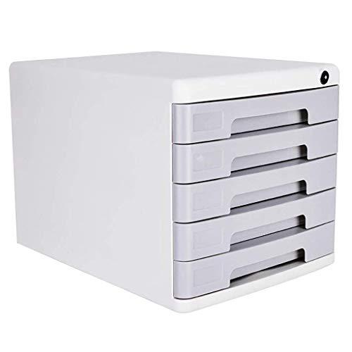 JF-XUAN File armadi, Cassetti Schedario 5 cassetti PP materiale duro guscio di plastica di grande capacità con serratura dati Cabinet con etichette casella Attrezzature da ufficio, scrivania dell'orga