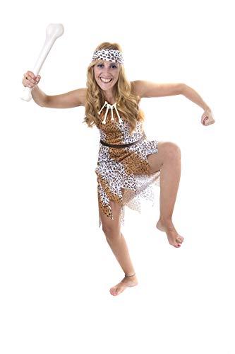 Costumizate! Disfraz de Cavernicola para Mujer Adulta Especial para Fiestas de Disfraces y Carnaval Talla Unica