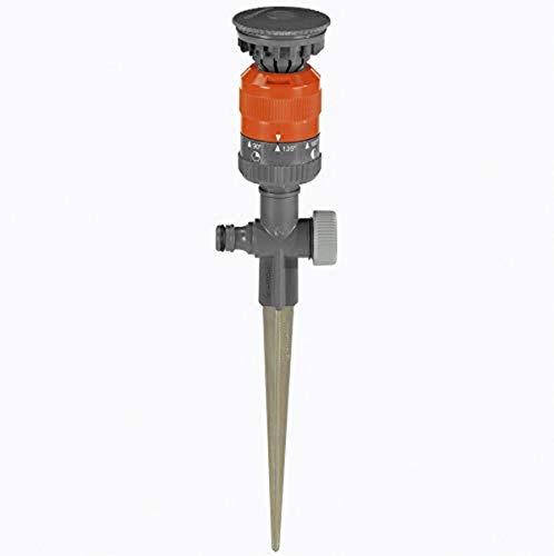 Gardena Comfort-Kreisregner Vario: Sprühregner für gleichmäßige Beregnung, für Flächen bis 225m², Wurfweite 8.5 m, 7-stufige Sektoreneinstellung von 90 Grad - 360 Grad, stabiler Metall-Spike (1949-20)