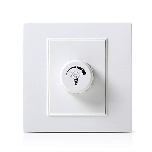 Foicags Placas de interruptor de la pared de los consumidores y de la pared Comercial Interruptor de atenuación blanca Interruptor de la lámpara de la lámpara de la lámpara de atenuación del controlad