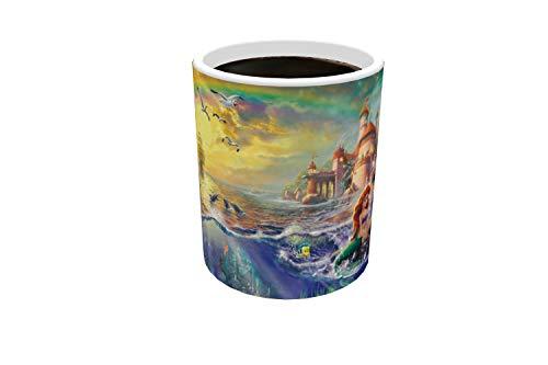 Morphing Mugs Disney Little Mermaid Thomas Kinkade Art Ariel Heat Changing Mug 11 Ounces