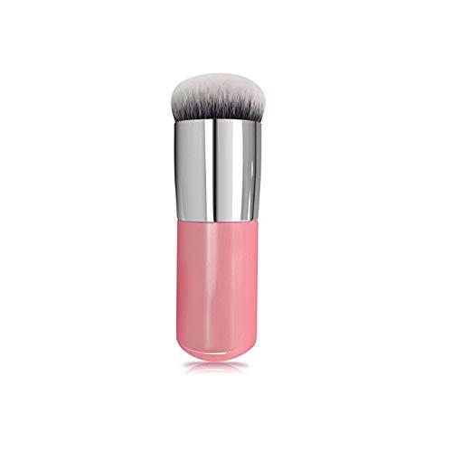 Costume cosmétique 1 pièces pinceau Fondation pinceaux de maquillage crème plate cosmétique rose argent pinceau de maquillage (Color : Pink Silver)