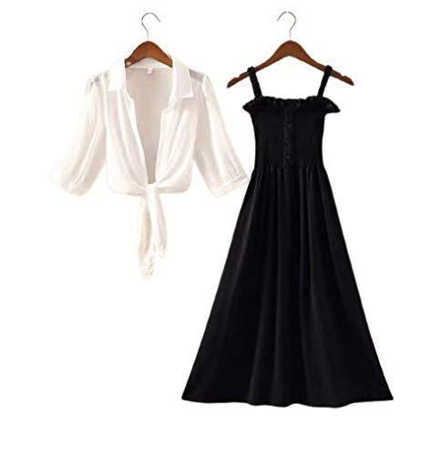 Myra-Syra Women's Ankle Length Long Dress with Shrug Black Medium