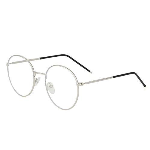 Gafas De Metal Anti Luz Azul Para Mujeres Y Hombres, Gafas Redondas Vintage Ultraligeras, Protección Para Los Ojos, Gafas De Ordenador Con Bloqueo De Rayos Azules