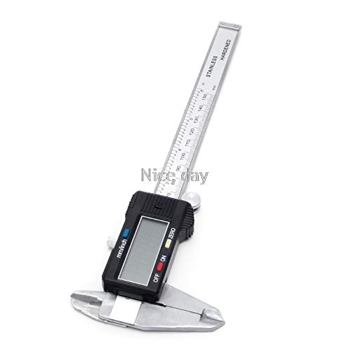 6' 150mm Electrónico Digital Vernier calibrador de micrómetro del calibrador de pantalla ancha de acero al carbono F15 20 Dropship