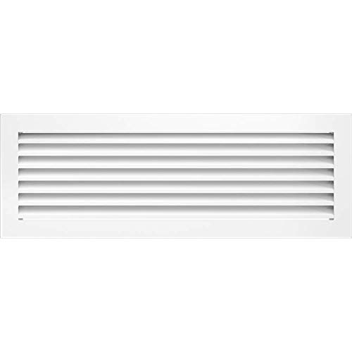 kratki Lüftungsgitter Fresh | 17 x 49 cm | Weiß | Warmluftgitter mit Lamellen aus Stahl | Abluftgitter für Kamin Belüftung | Für Jede Art von Innenraum