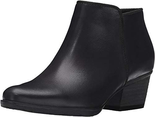 Blondo Women's Villa Waterproof Ankle Boot, Black Leather, 7.5 M US