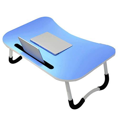 ZXL Opvouwbare laptop tafel, eenvoudige en veelzijdige gebogen bijzettafel, kleine tafel te vouwen (kleur: ROSA)