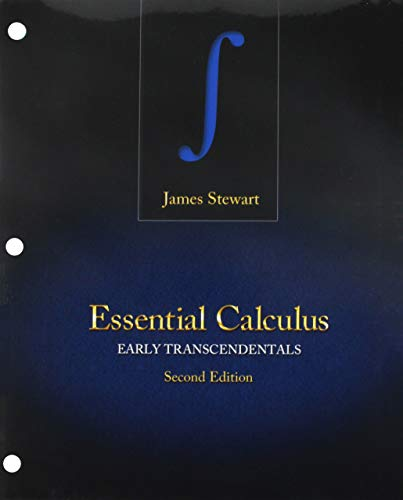 Bundle: Essential Calculus: Early Transcendentals, Loose-leaf Version, 2nd + WebAssign Printed Access Card for Stewart's Essential Calculus: Early Transcendentals, 2nd Edition, Multi-Term