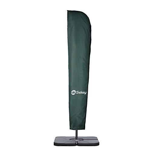 Sekey® Schutzhülle für Ampelschirm/Sonnenschirm,Abdeckhauben für Sonnenschirm, 100% Polyester, Grün