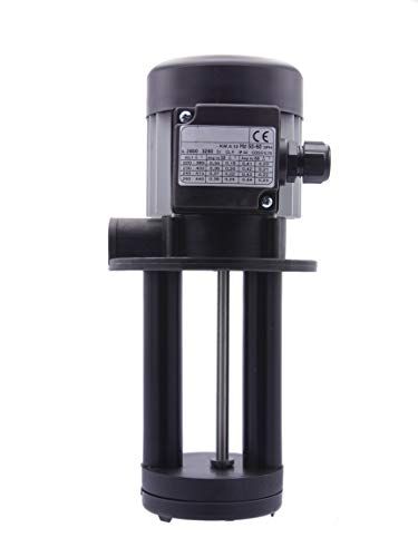 Hochleistungs - Kühlmittelpumpe 150 mm Eintauchtiefe für Bandsägen, Drehmaschinen, Kreissägen, Fräsmaschinen