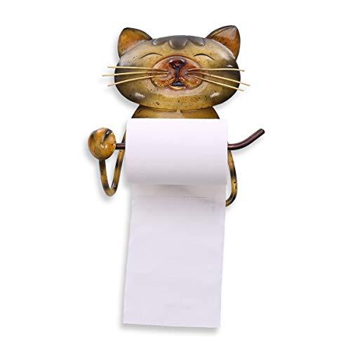 Tooarts Katze Papier Handtuchhalter Vintage Gusseisen Hund Toilettenpapierhalter Stand Handtuchhalter Stehen für Badezimmer