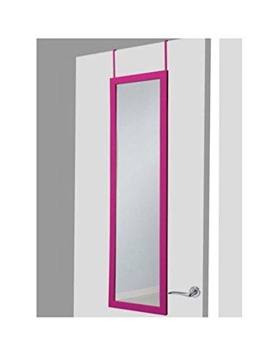 Unimasa moderne deurspiegel in fuchsia, voor slaapkamer, zonder gaten (34,7 x 1,5 x 125 cm) - huis en meer