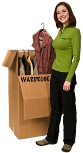 EcoBox 24 x 21 x 46 Inches Large Wardrobe Box with Hanger Bar (Pack of 3)