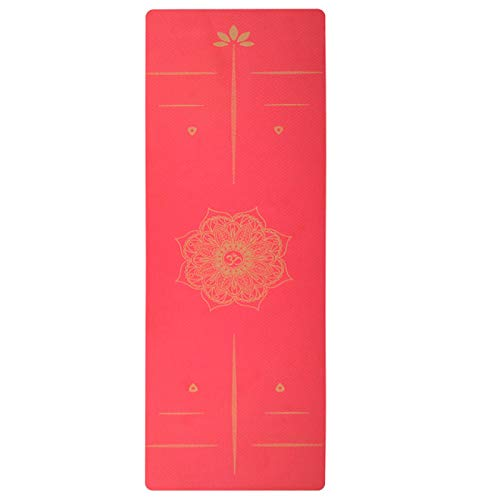 BECCYYLY Yoga Exercise Matyoga Mats Fitness Non Slip Losing Weight Stamping Position Line Gym Equipment For Home|Yoga Mats
