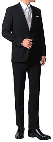 (NEWSTANDARD) 礼服 メンズ フォーマルスーツ 2つボタン 喪服 オールシーズン 防シワ ウォッシャブル 冠婚葬祭 【裾上げテープ・スーツハンガー付属】 A6
