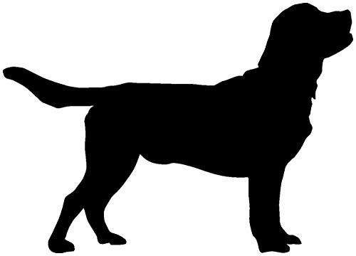 Samunshi® Labrador Retriever als Wandtattoo in verschiedenen Farben und Größen - Hunde Aufkleber in 11 Größen und 25 Farben (40x28cm schwarz)